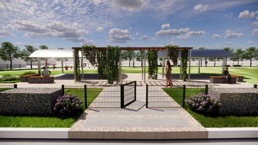Lanscape Design Buena Vista Perspective 1 AM · Project Highlight: ENLACE Landscape Architecture