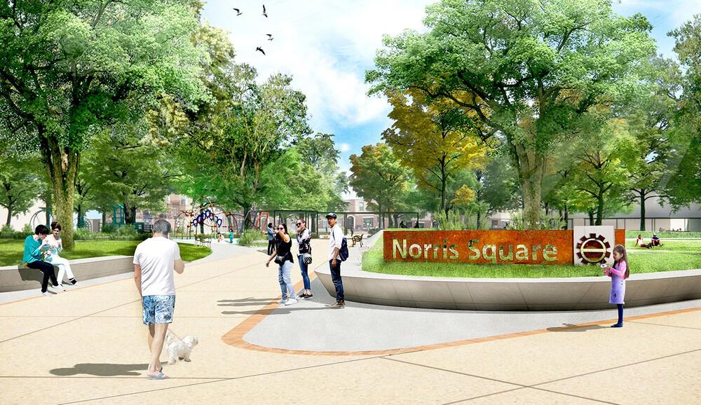 Norris Square Park_Rendering_5_1600 · Project Highlight: Norris Square Park