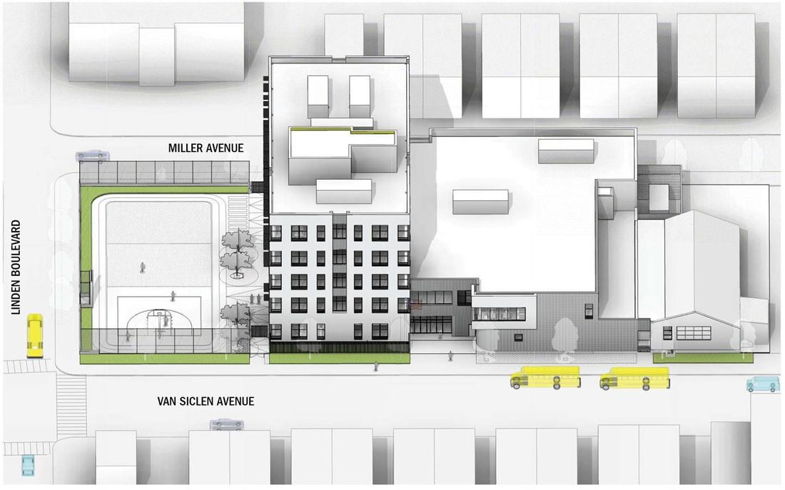 SCA-ENY- Main entry façade - East Elevation
