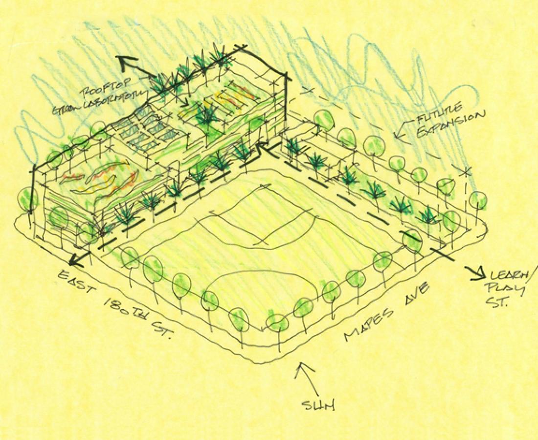 aerial concept sketch