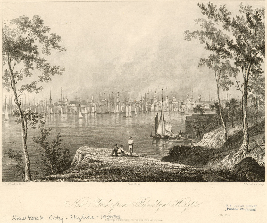 New York from Brooklyn Heights 1834